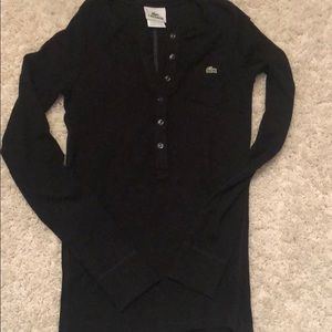 Ribbed Lacoste top